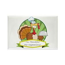 Thanksgiving Vegetarians Rectangle Magnet