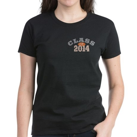 Class Of 2014 Orange Women's Dark T-Shirt