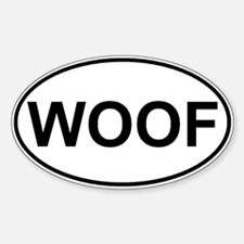 WOOF Sticker (Oval)