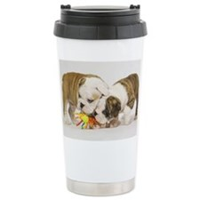 BULLDOG PUPPIES PLAYING Travel Mug
