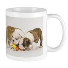 BULLDOG PUPPIES PLAYING Mug