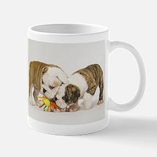 BULLDOG PUPPIES PLAYING Mug
