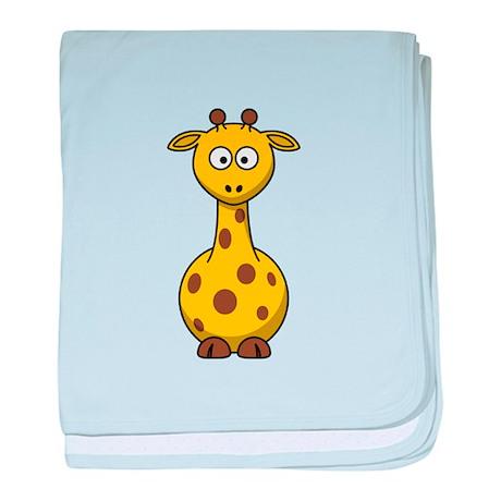Cartoon Giraffe baby blanket