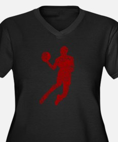 Worn, Air Jordan Women's Plus Size V-Neck Dark T-S