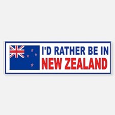 NEW ZEALAND BUMPER_001 Bumper Car Car Sticker