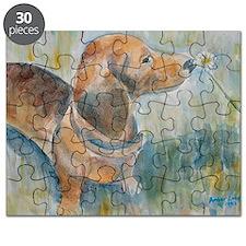 """""""Flower Child"""" a Dachshund Puzzle"""