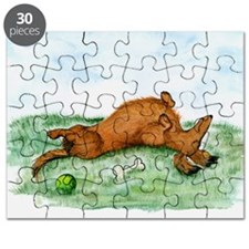 Longhaired Happy Dachsie Puzzle