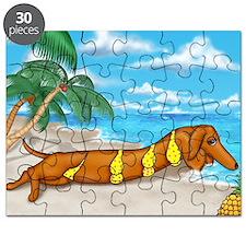 Wiener Dog Babe Puzzle