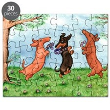 Dachshund Ode to Spring Puzzle