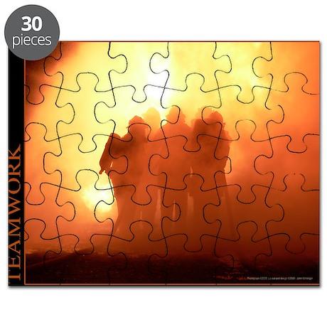 Teamwork - Motivational Fire Art Puzzle