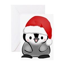 Cute Holiday Penguin Greeting Card