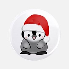"""Cute Holiday Penguin 3.5"""" Button"""