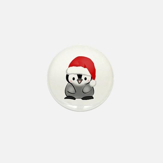 Cute Holiday Penguin Mini Button