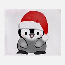 Cute Holiday Penguin Throw Blanket