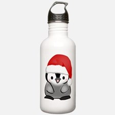 Cute Holiday Penguin Water Bottle
