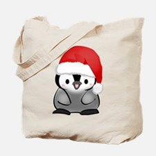 Cute Holiday Penguin Tote Bag