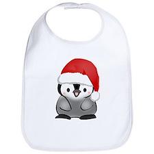 Cute Holiday Penguin Bib