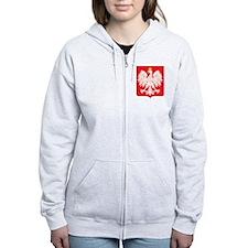 Polish Eagle Red Shield Zip Hoodie