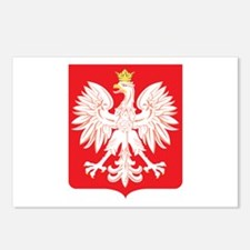 Polish Eagle Red Shield Postcards (Package of 8)