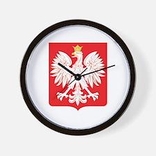 Polish Eagle Red Shield Wall Clock