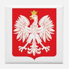Polish Eagle Red Shield Tile Coaster