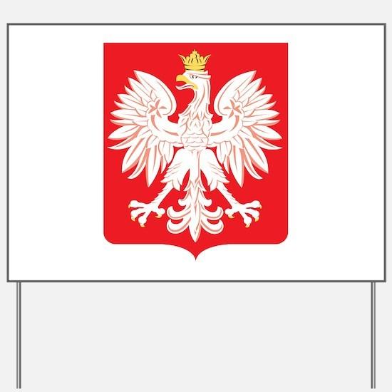 Polish Eagle Red Shield Yard Sign