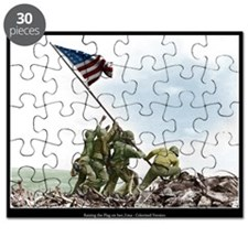Raising the Flag on Iwo Jima - Colorized (16x20)