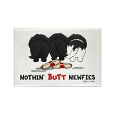Nothin' Butt Newfies Rectangle Magnet