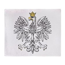 Polish Eagle With Gold Crown Throw Blanket