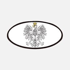 Polish Eagle With Gold Crown Patches