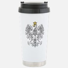 Polish Eagle With Gold Crown Travel Mug