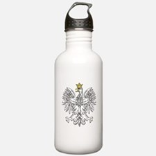 Polish Eagle With Gold Crown Water Bottle