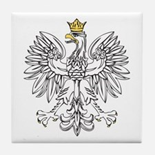 Polish Eagle With Gold Crown Tile Coaster