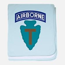 71st Airborne baby blanket