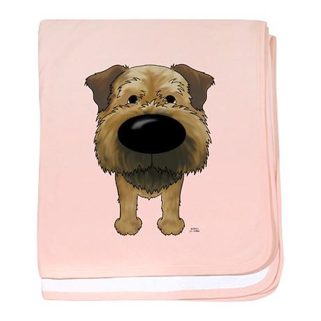 Big Nose Border Terrier baby blanket
