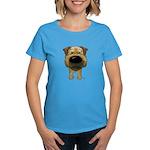 Big Nose Border Terrier Women's Dark T-Shirt