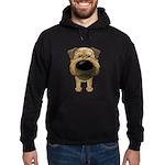 Big Nose Border Terrier Hoodie (dark)