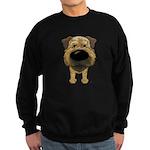 Big Nose Border Terrier Sweatshirt (dark)
