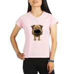 Big Nose Border Terrier Performance Dry T-Shirt