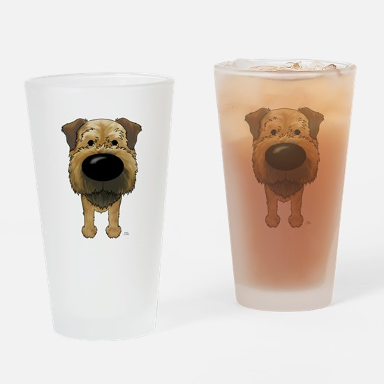 Big Nose Border Terrier Drinking Glass