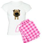Big Nose Border Terrier Women's Light Pajamas