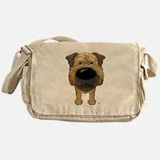 Big Nose Border Terrier Messenger Bag