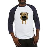 Big Nose Border Terrier Baseball Jersey