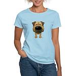 Big Nose Border Terrier Women's Light T-Shirt
