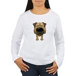 Big Nose Border Terrier Women's Long Sleeve T-Shir