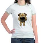 Big Nose Border Terrier Jr. Ringer T-Shirt