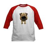 Big Nose Border Terrier Kids Baseball Jersey