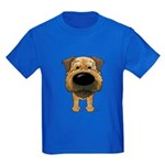 Big Nose Border Terrier Kids Dark T-Shirt