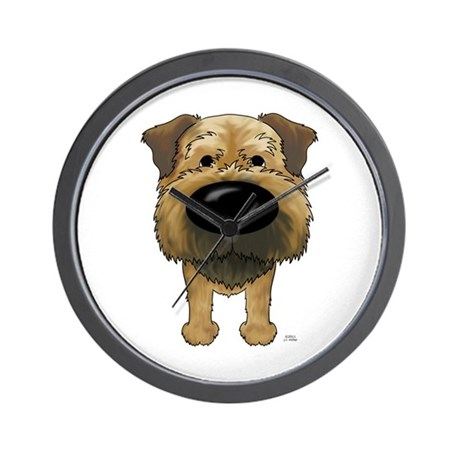Big Nose Border Terrier Wall Clock