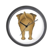 Big Butt Border Terrier Wall Clock